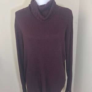 George Womens cowl neck long sleeve Ribbed Top